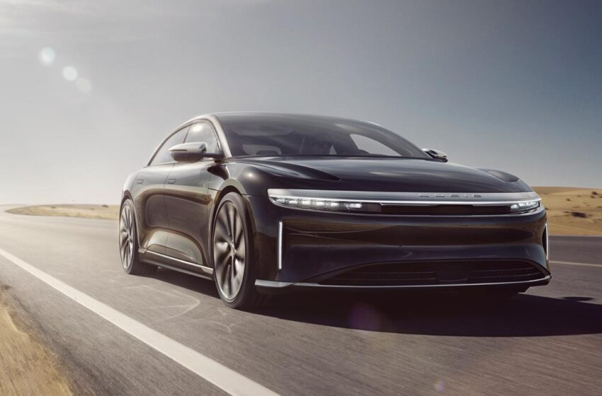 Lucid Air electric car smashes Tesla's range record